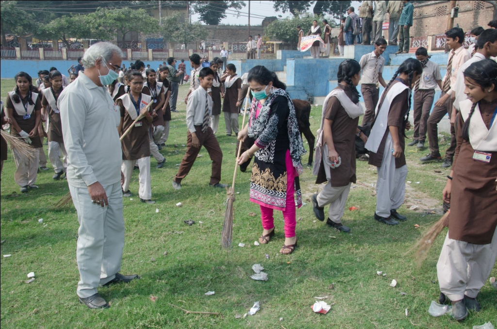 Cleanliness drive on childrens day